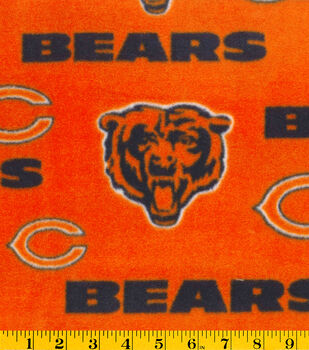 Chicago Bears NFL Orange Fleece Fabric by Fabric Traditions