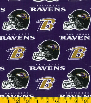 Baltimore Ravens NFL Purple Cotton by Fabric Traditions