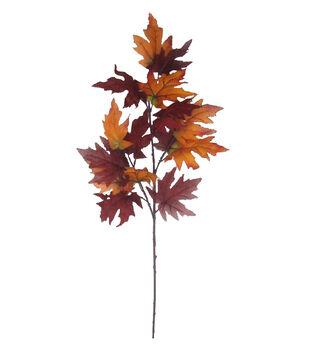 Blooming Autumn 40'' Maple Leaves Spray-Orange & Red
