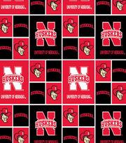 University of Nebraska NCAA  Cotton Fabric, , hi-res