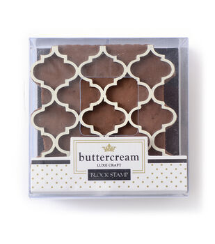 Buttercream™ Collection Block Stamp-Quatrefoil