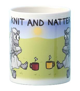 Vanessa Bee Designs Coffee Mug-Knit & Natter