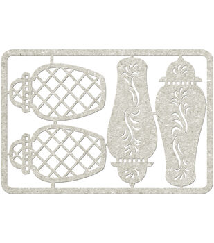 "Die-Cut Gray Chipboard embellishments-Ginger Jars 4/Pkg, 3.5""X5"""
