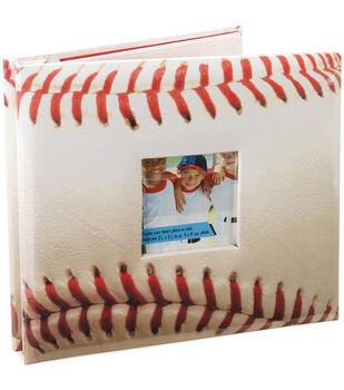 8''x8'' Postbound Album-Baseball