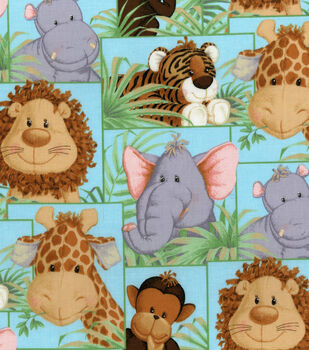 Nursery Fabric Jungle Babies Patch