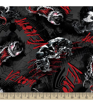 Marvel Comics Villians Venom Toss Cotton Fabric