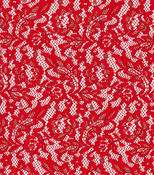 Casa Collection™ Fashion Lace Fabric-Scarlet & Gold