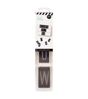 Heidi Swapp Lightbox Inserts 50/Pkg-Alphabet White