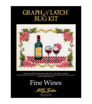 "Latch Hook Kit 27""X20""-Wine Rug"
