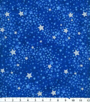 Keepsake Calico™ Cotton Fabric-Tonal Swirled Stars Navy, , hi-res