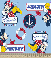 Disney® Mickey & Minnie Print Fabric-Nautical, , hi-res