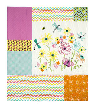"""Garden Party Needle Creations Embroidery & Quilt Panel-36""""X42"""""""