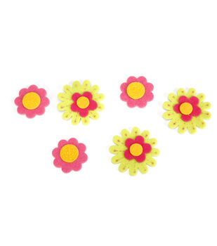Felt Stickers Crazy Daisies
