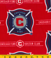 Chicago Fire Soccer Club MLS Fleece Fabric, , hi-res