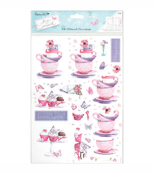 Papermania Lucy Cromwell Tea  & Cake A4 Decoupage Sheets