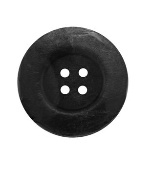 "Everything Mary Black 2.25"" XL Wooden Button"