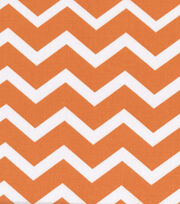 Keepsake Calico™ Cotton Fabric-Orange&White Chevron, , hi-res
