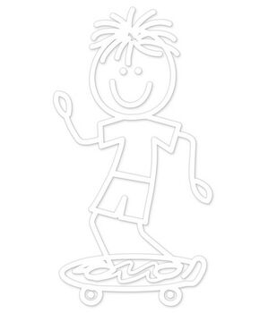 Plaid® Me&My Peeps Family Auto Decal-Skateboard Boy