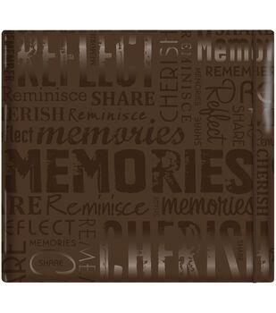 """MBI Gloss Scrapbook 12""""X12""""-Memories-Brown"""