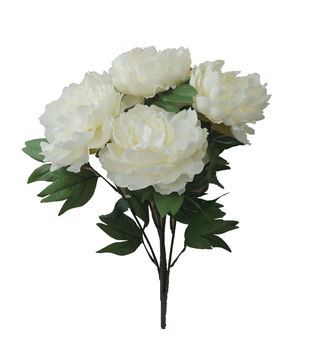 "Bloom Room 19.5"" Peony x10 Bush Beauty-White"