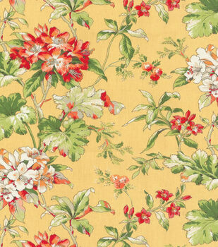 Waverly Upholstery Fabric-Fawn Hill Citrus