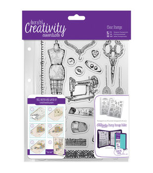 Docrafts Creativity Essentials A5 Clear Stamp Set-Haberdashery