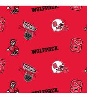 North Carolina State University NCAA All-over Fleece Fabric, , hi-res