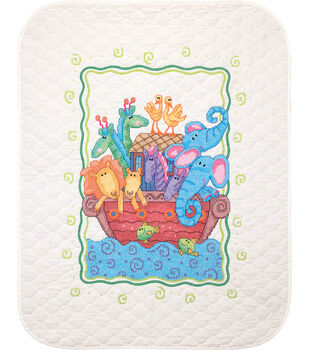 Dimensions Quilt Stamped Cross Stitch Kit Noah's Ark
