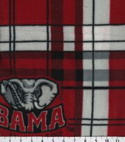 University of Alabama NCAA Plaid Fleece Fabric, , hi-res