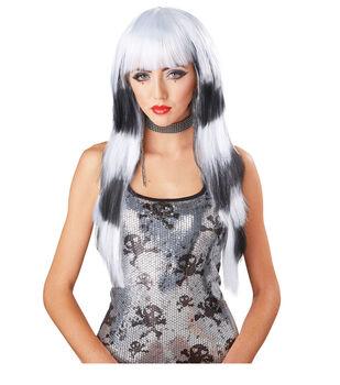 Maker's Halloween Long Wig-White & Black