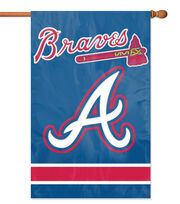 Atlanta Braves MLB Applique Banner Flag, , hi-res