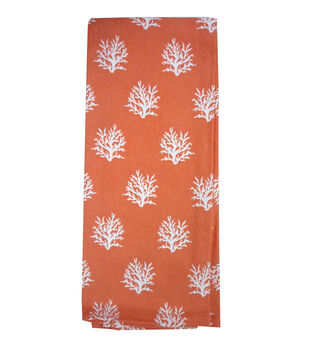 Escape To Paradise Flour Sack Hand Towel-All Over Coral
