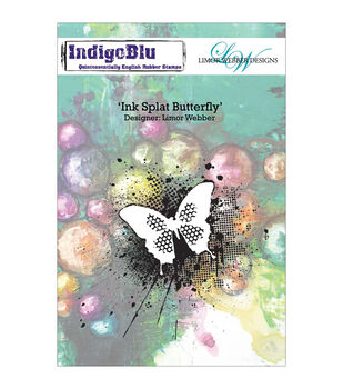 Indigoblu Ink Splat Butterfly Cling Mounted Stamp