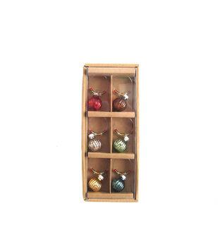 The 5 & Twine™ Set 6 Glass Wine Charms