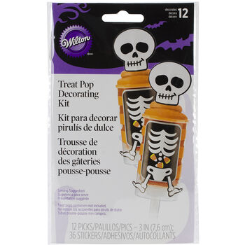Treat Pop Decorating Kit Makes 12-Skeleton