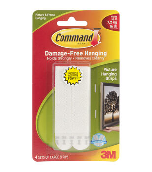 3M® Command 4ct Large Picture Hanging Strips-White