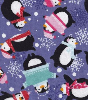 Snuggle Flannel Fabric-Bundled Penguins