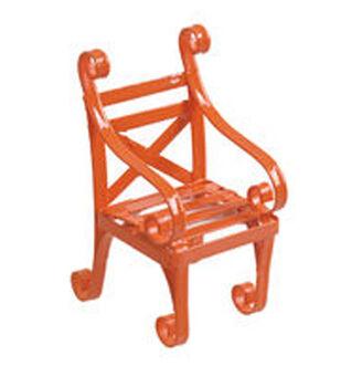 Fairy Garden Metal Chair-Orange