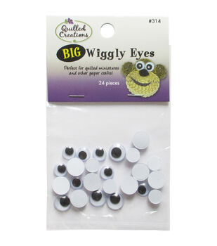 Quilled Creations- Big Wiggly Eyes 24/Pkg