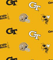Georgia Tech NCAA All-over Fleece Fabric, , hi-res