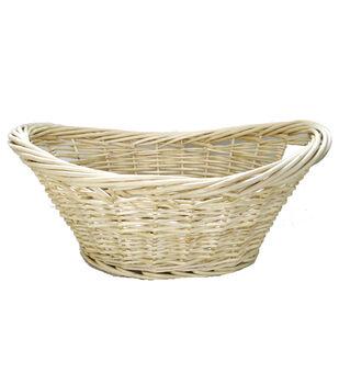 Organizing Essentials™ Oval Heavy Rim Willow Laundry Basket