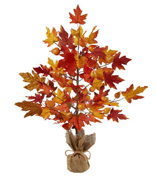 Blooming Autumn Maple Leaf Tree With LED Light