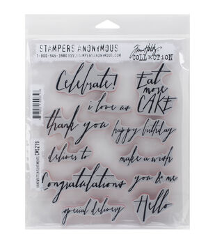 Stampers Anonymous Handwritten Sentiments Cling Rubber Stamp Set