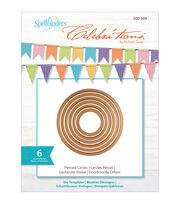 Spellbinders Celebra'tions Dies 6/Pkg-Pierced Circles, , hi-res