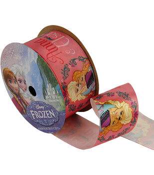"""Frozen Ribbon 1-1/2""""x9'-Anna&Elsa"""