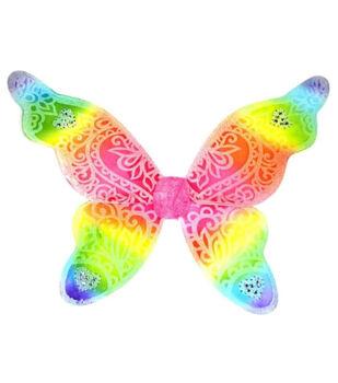 Maker's Halloween Large Glitter Wings-Rainbow