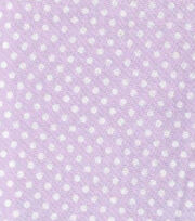 Nursery Baby Basic Fabric Dots White on Lilac, , hi-res