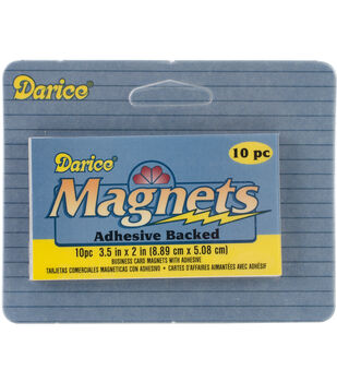 "Adhesive Magnetic Sheet-2""X3.5"" 10/Pkg"