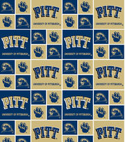 University of Pittsburgh NCAA  Cotton Fabric, , hi-res