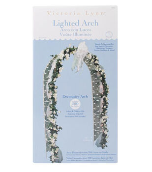 Darice® 8'x4' Lighted Decorative Arch-White